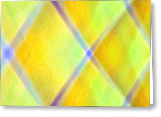Sacred Tapestries - Textiles Greeting Cards - Criss Cross Greeting Card by Suzi Freeman