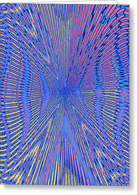 Modern Tapestries - Textiles Greeting Cards - Criss-Crossed Greeting Card by Suzi Freeman