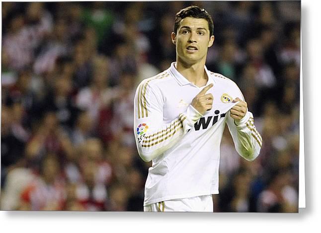 Cristiano Ronaldo 4 Greeting Card by Rafa Rivas