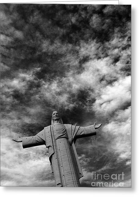 Eternal Inspirational Greeting Cards - Cristo de la Concordia Cochabamba Greeting Card by James Brunker