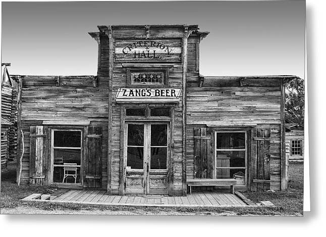 Vigilantes Greeting Cards - Criterion Hall Saloon -- Montana Territories Greeting Card by Daniel Hagerman