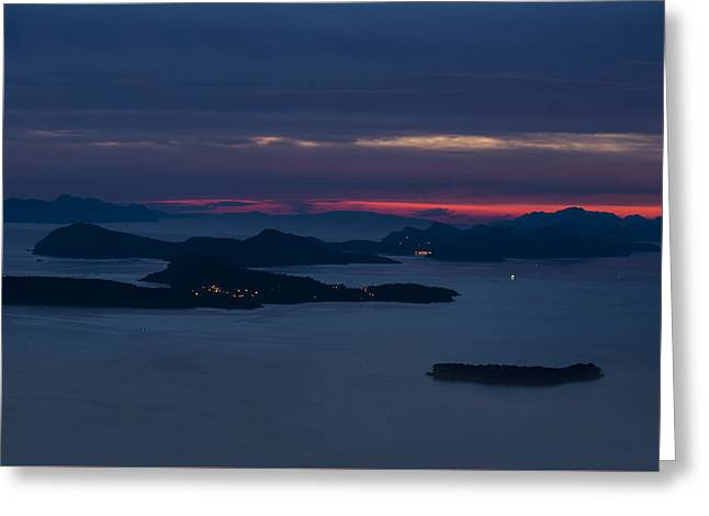 Panoramic Ocean Greeting Cards - Croatian impression with islands Greeting Card by Jaroslaw Blaminsky