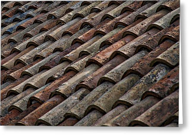 Layer Greeting Cards - Croatian Roof Tiles Greeting Card by Stuart Litoff