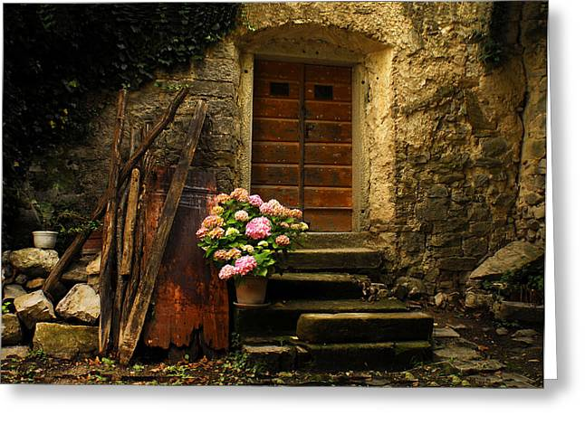 Croatia Greeting Cards - Croatian Stone House Greeting Card by Don Wolf