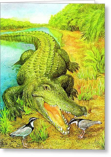 Crocodile Greeting Card by Natalie Berman