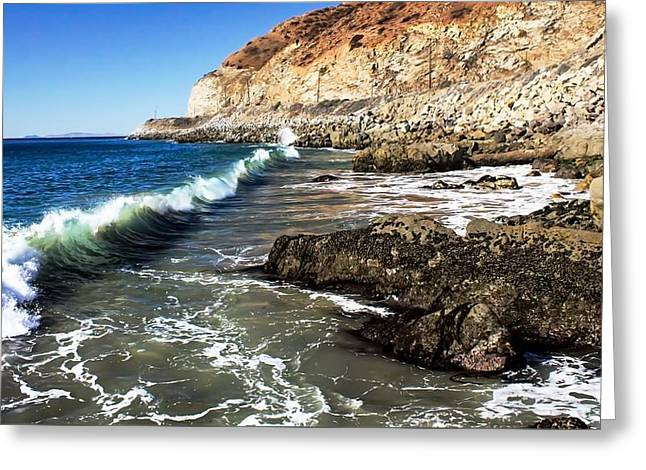 Ventura California Greeting Cards - Crocodile Rock Greeting Card by Tim Keagy