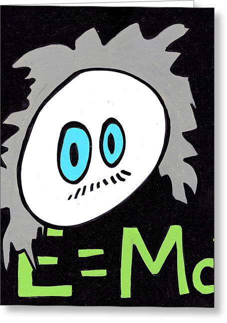 Outsider Drawings Greeting Cards - Cronkle Einstein Greeting Card by Jera Sky