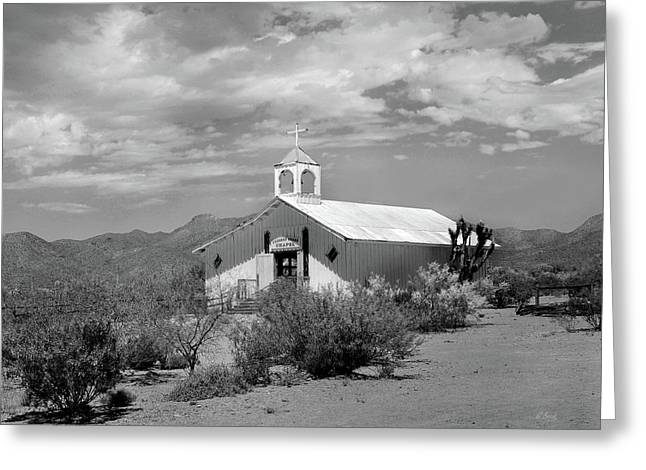 Movie Prop Greeting Cards - Crooked Creek Chapel Greeting Card by Gordon Beck