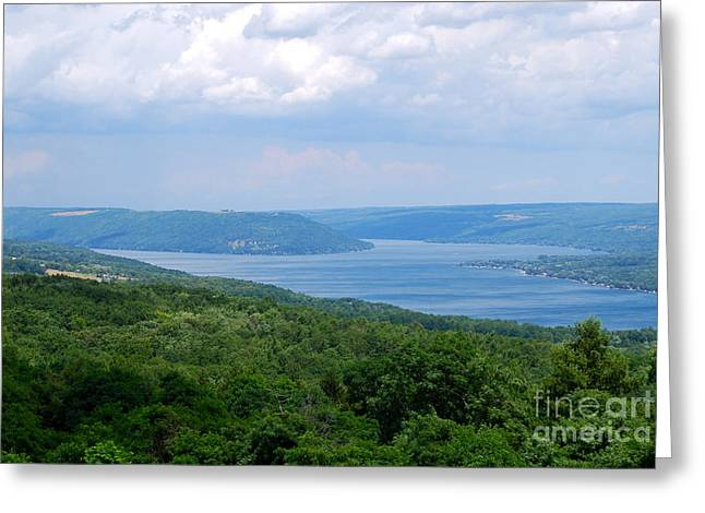 Recently Sold -  - Keuka Greeting Cards - Crooked Lake Bluff Greeting Card by Alisa Potter