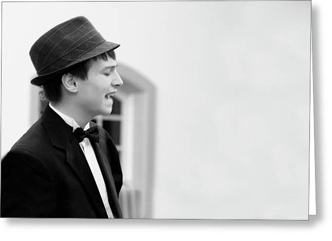 Crooner Greeting Card by John Meader