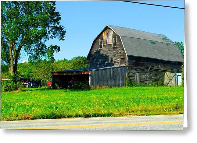 Maine Farms Greeting Cards - Crop Duster in the Barn Greeting Card by Richard Dorr