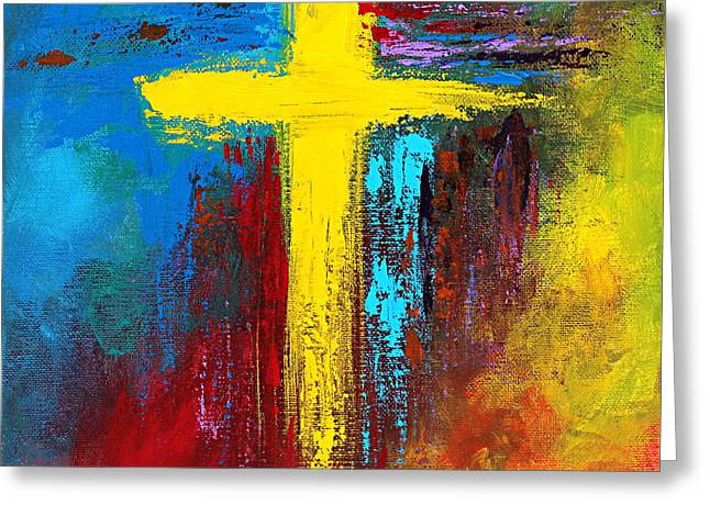 Crossed Hands Greeting Cards - Cross 2 Greeting Card by Kume Bryant