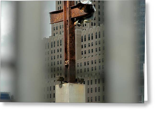 Cross at Ground Zero Greeting Card by Frank Mari