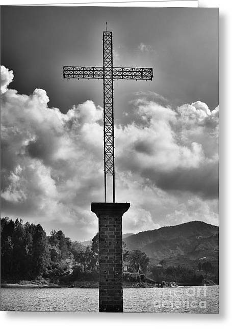 Cross At Guatape Greeting Card by Photography by Orlando Antelo