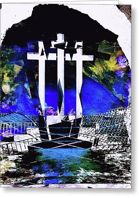 Cross Greeting Card by Contemporary Art