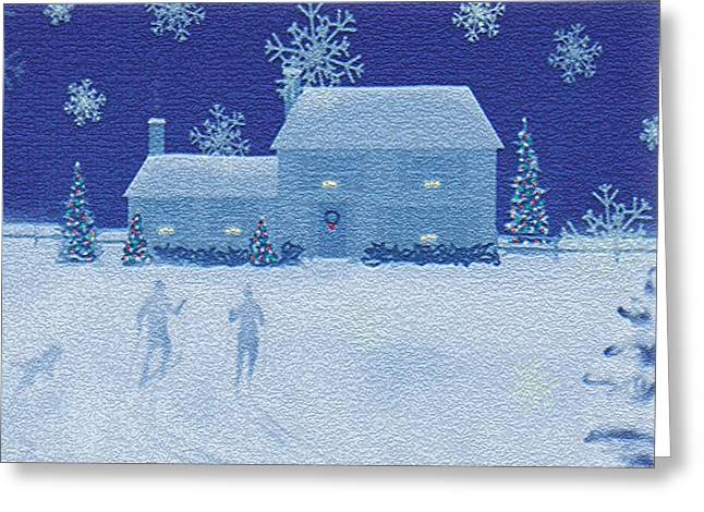 Cross-country  Greeting Card by Jim Rehlin