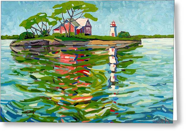 Canadian Greeting Cards - Cross-over Again Greeting Card by Phil Chadwick