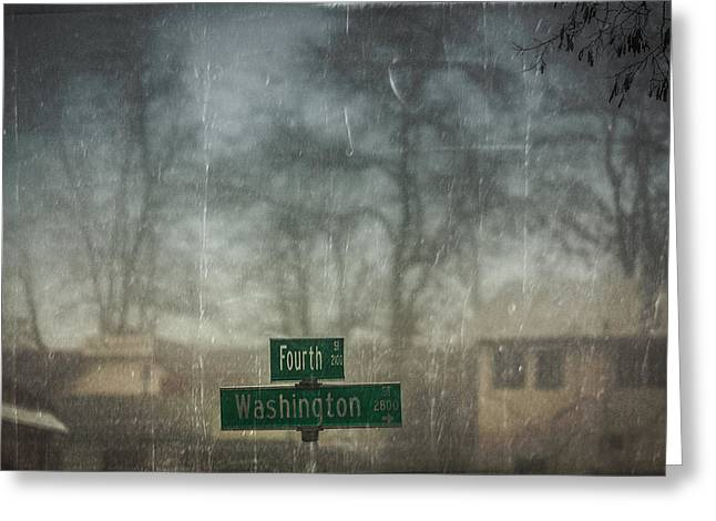 Washingotn Greeting Cards - Cross Roads Greeting Card by Leena Hannonen