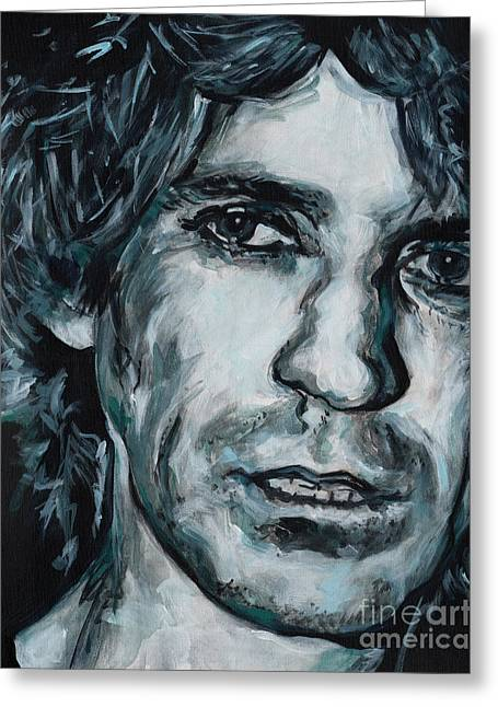 Keith Richards Paintings Greeting Cards - Crosseyed Heart. Keith Richards Greeting Card by Tanya Filichkin