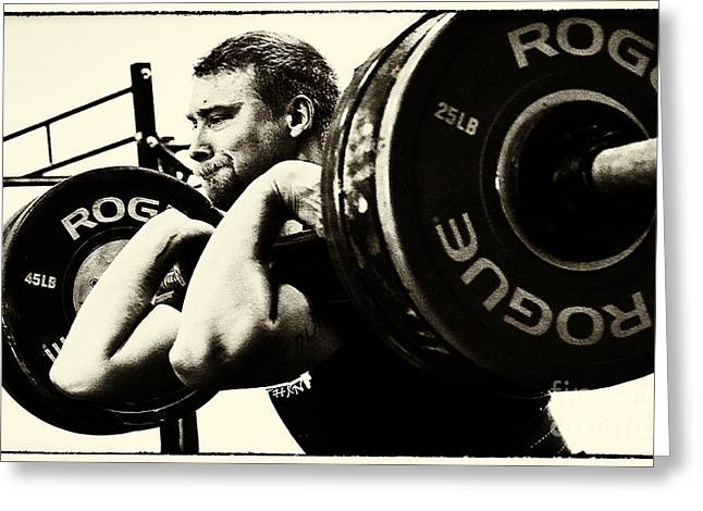 Greeting Cards - Crossfit Function 1 Greeting Card by Bob Christopher