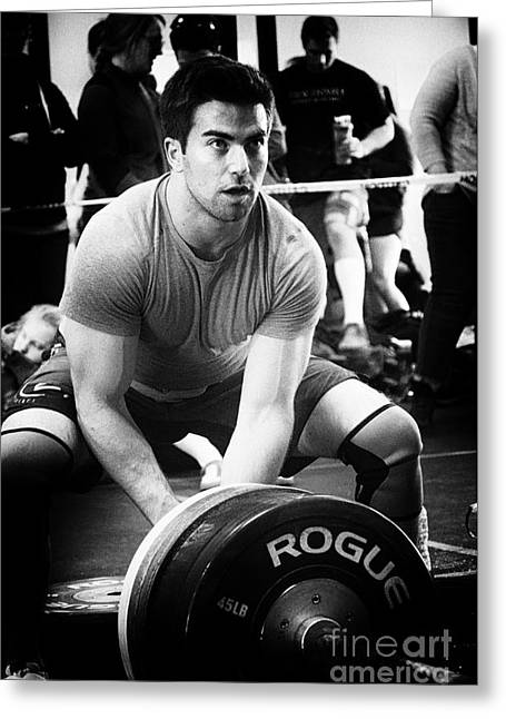 Greeting Cards - Crossfit Function 19 Greeting Card by Bob Christopher