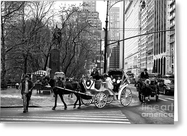 Crossing Center Drive Greeting Card by John Rizzuto