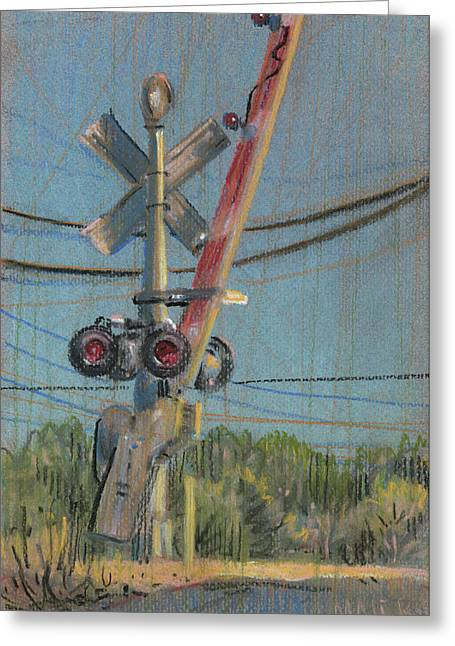 Gate Pastels Greeting Cards - Crossing Greeting Card by Donald Maier