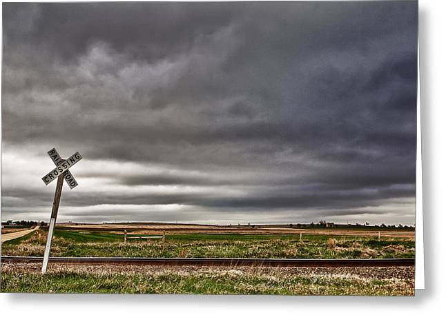 Middle Of Nowhere Greeting Cards - Crossing Greeting Card by John K Sampson