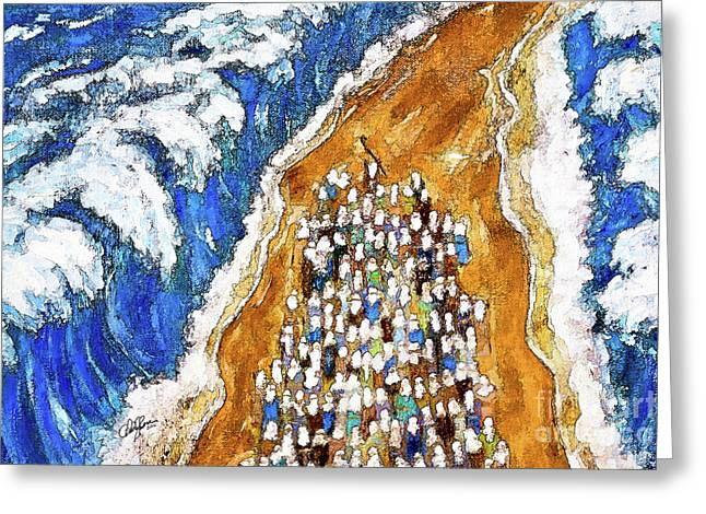 Crossing The Red Sea Greeting Card by Cheryl Rose