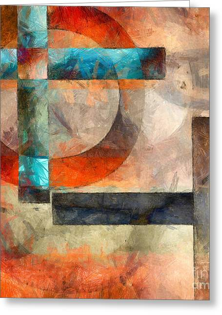 Crossroads Greeting Cards - Crossroads Abstract Greeting Card by Edward Fielding