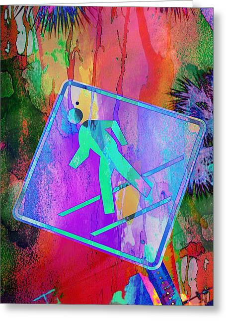 Crosswalk Greeting Card by Bob Pardue