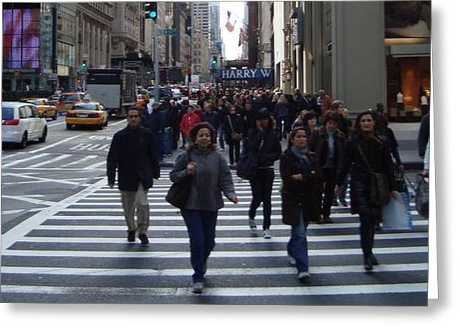 Crosswalk Greeting Cards - Crosswalk Greeting Card by H George Vandeveer