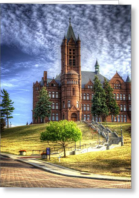 Crouse Memorial College Building At Syracuse University Greeting Card by Vicki Jauron