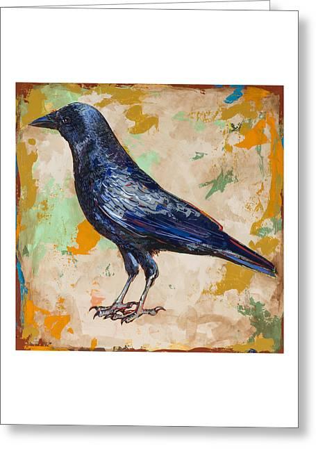 Raven Greeting Cards - Crow #1 Greeting Card by David Palmer