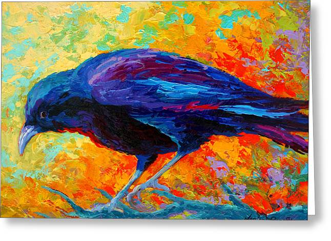 Crow IIi Greeting Card by Marion Rose