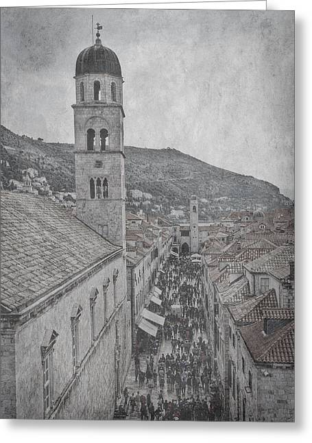 Main Street Greeting Cards - Crowded Street - Dubrovnik  Greeting Card by Stuart Litoff