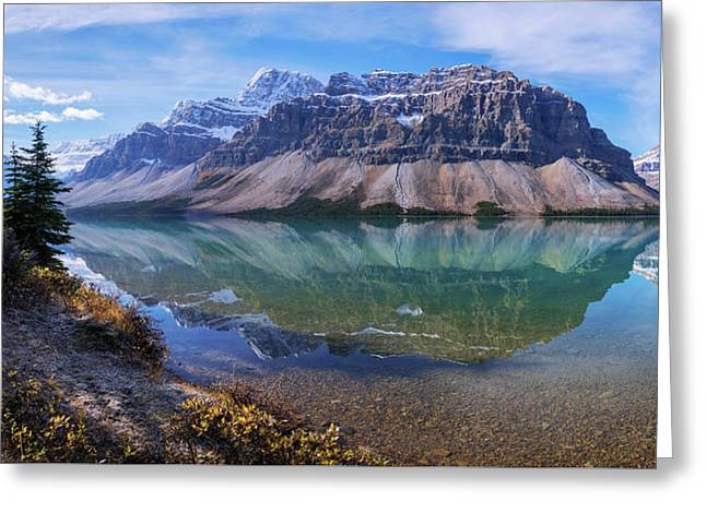 Crowfoot Reflection Greeting Card by Chad Dutson