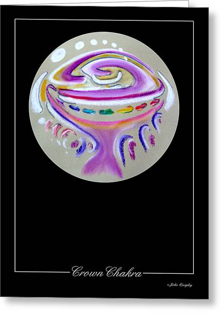 Healing Pastels Greeting Cards - Crown Chakra Greeting Card by John Quigley