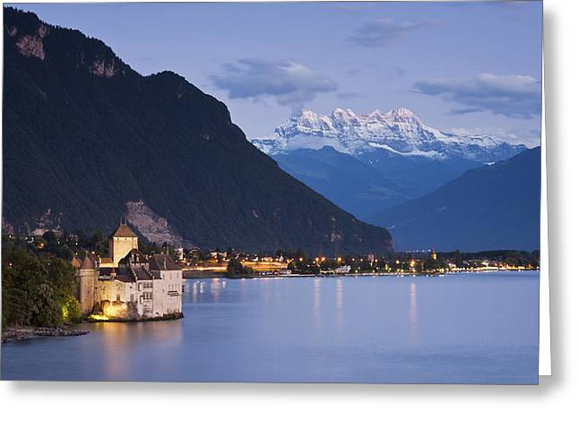 Chillon Greeting Cards - Crown of the Alps Greeting Card by Markus Stampfli