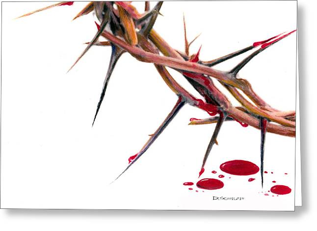 Crown of thorns Greeting Card by Dennis Schmelzer