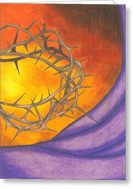Salvation Mixed Media Greeting Cards - Crown of Thorns Greeting Card by Michelle Young