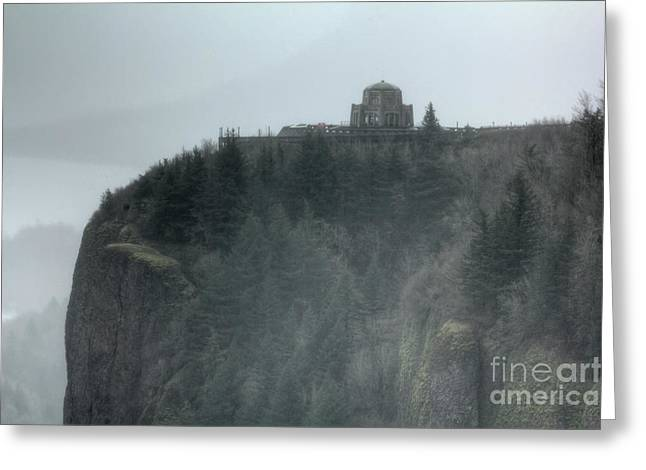Vista Greeting Cards - Crown Point Vista House Columbia River Gorge Oregon Greeting Card by Dustin K Ryan