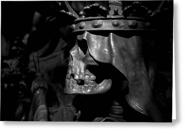 Crowned Death II Greeting Card by Marc Huebner
