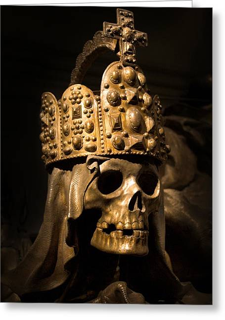 Marc Huebner Greeting Cards - Crowned Death Greeting Card by Marc Huebner