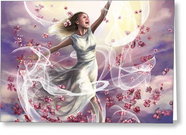 Crowned with glory... Dancing in glory Greeting Card by Tamer and Cindy Elsharouni