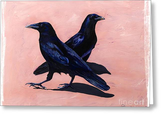 Crows Greeting Cards - Crows Greeting Card by Sandi Baker