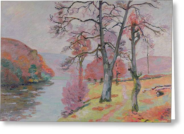 Guillaumin; Jean Baptiste Armand (1841-1927) Greeting Cards - Crozant Brittany Greeting Card by Jean Baptiste Armand Guillaumin
