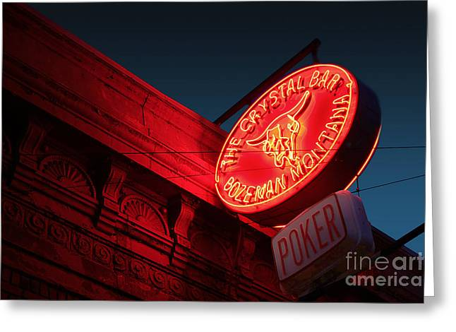 Saloons Greeting Cards - Crystal Bar Greeting Card by Chris  England