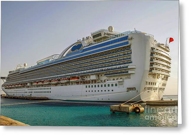 Satisfaction Greeting Cards - Cruise Ship Greeting Card by Patricia Hofmeester