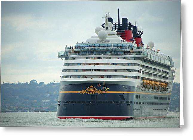 San Diego Harbor Cruise Greeting Cards - Cruise Ship- Wonder Greeting Card by See My  Photos